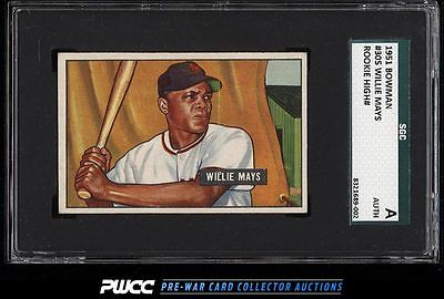 1951 Bowman Willie Mays ROOKIE RC 305 SGC AUTH PWCC