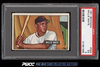 1951 Bowman Willie Mays ROOKIE RC 305 PSA 5 EX PWCC