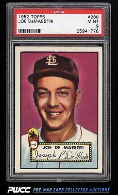 1952 Topps Joe DeMaestri 286 PSA 9 MINT PWCC