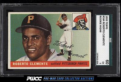 1955 Topps Roberto Clemente ROOKIE RC 164 SGC 560 EX PWCC
