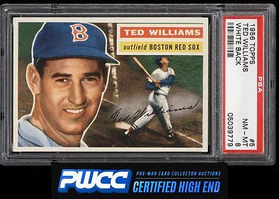 1956 Topps Ted Williams WHITE BACK 5 PSA 8 NMMT PWCCHE