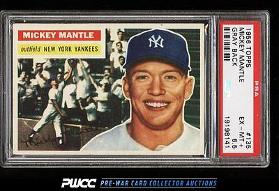 1956 Topps Mickey Mantle 135 PSA 65 EXMT PWCC