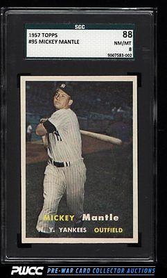 1957 Topps Mickey Mantle 95 SGC 888 NMMT PWCC