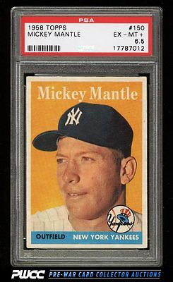 1958 Topps Mickey Mantle 150 PSA 65 EXMT PWCC