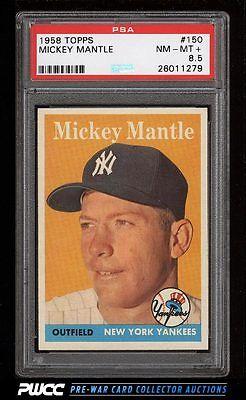 1958 Topps Mickey Mantle 150 PSA 85 NMMT PWCC