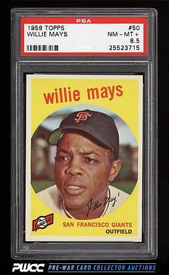 1959 Topps Willie Mays 50 PSA 85 NMMT PWCC