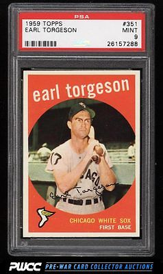 1959 Topps Earl Torgeson 351 PSA 9 MINT PWCC