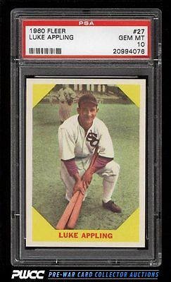 1960 Fleer SETBREAK Luke Appling 27 PSA 10 GEM MINT PWCC