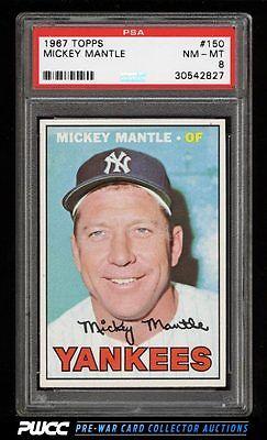 1967 Topps Mickey Mantle 150 PSA 8 NMMT PWCC