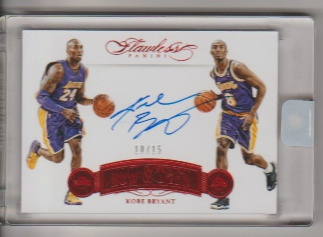 201516 Panini Flawless Kobe Bryant Now  Then Auto Autograph Red card 1015