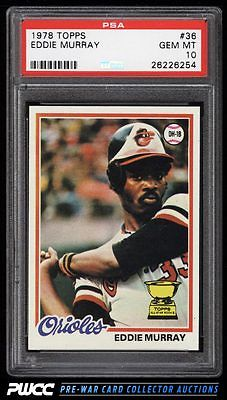 1978 Topps Eddie Murray ROOKIE RC 36 PSA 10 GEM MINT PWCC