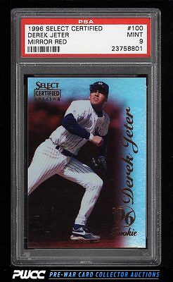 1996 Select Certified Mirror Red Derek Jeter ROOKIE RC 100 PSA 9 MINT PWCC