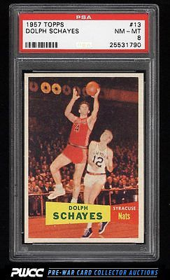 1957 Topps Basketball Dolph Schayes ROOKIE RC 13 PSA 8 NMMT PWCC
