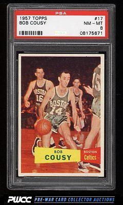 1957 Topps Basketball Bob Cousy ROOKIE RC 17 PSA 8 NMMT PWCC