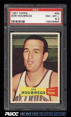 1957 Topps Basketball Bob Houbregs 56 PSA 85 NMMT PWCC