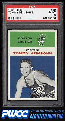 1961 Fleer Basketball Tommy Heinsohn 19 PSA 9 MINT PWCCHE