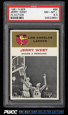 1961 Fleer Basketball Jerry West IN ACTION 66 PSA 85 NMMT PWCC