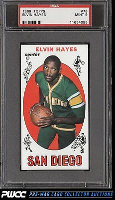 1969 Topps Basketball Elvin Hayes ROOKIE RC 75 PSA 9 MINT PWCC