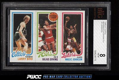 1980 Topps Basketball Larry Bird  Magic Johnson ROOKIE RC BVG 8 NMMT PWCC