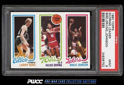 1980 Topps Basketball Larry Bird  Magic Johnson ROOKIE RC PSA 9 MINT PWCC