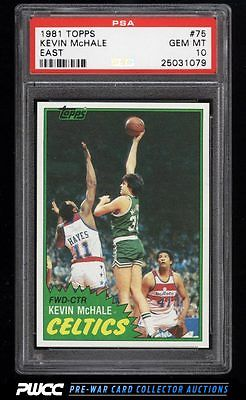 1981 Topps Basketball East Kevin McHale ROOKIE RC 75 PSA 10 GEM MINT PWCC