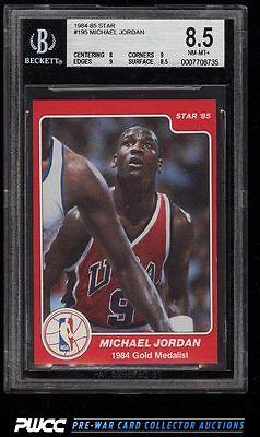 198485 Star Basketball Michael Jordan ROOKIE RC 195 BGS 85 NMMT PWCC