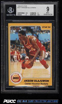 198485 Star Basketball Hakeem Olajuwon ROOKIE RC 237 BGS 9 MINT PWCC