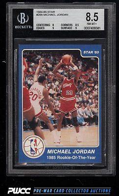 198485 Star Basketball Michael Jordan ROOKIE RC 288 BGS 85 NMMT PWCC