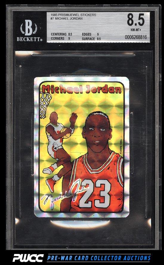 1985 Prism Jewel Sticker Michael Jordan ROOKIE RC 7 BGS 85 NMMT PWCC