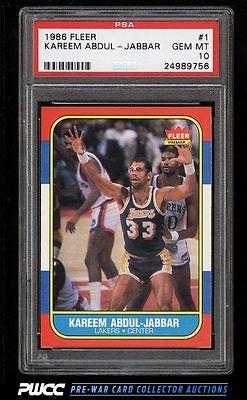 1986 Fleer Basketball SETBREAK Kareem AbdulJabbar 1 PSA 10 GEM MINT PWCC
