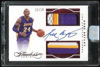 KOBE BRYANT 201516 Flawless Dual 6 Color Patch AUTO Ruby 1215