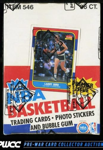 1986 Fleer BBall Wax Box 36ct Packs Michael Jordan 57 RC BBCE AUTH LOA PWCC