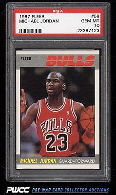 1987 Fleer Basketball Michael Jordan 59 PSA 10 GEM MINT PWCC
