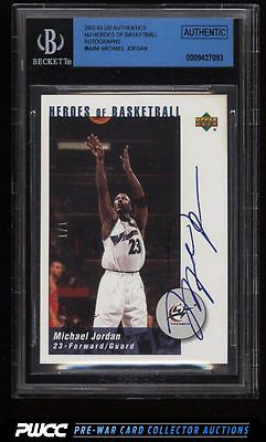 2002 UD Authentics MJ Heroes Of BBall Michael Jordan AUTO 11 BGS AUTH PWCC