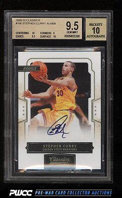 2009 Classics Basketball Stephen Curry ROOKIE RC AUTO 499 166 BGS 95 PWCC