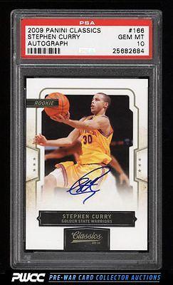 2009 Classics Basketball Stephen Curry ROOKIE RC AUTO 499 166 PSA 10 PWCC
