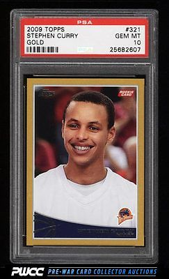 2009 Topps Gold Stephen Curry ROOKIE RC 2009 321 PSA 10 GEM MINT PWCC