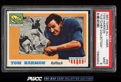 1955 Topps AllAmerican Tom Harmon 35 PSA 9 MINT PWCC