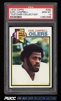 1979 Topps Football Earl Campbell ROOKIE RC 390 PSA 10 GEM MINT PWCC