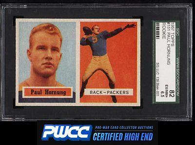 1957 Topps Football Paul Hornung ROOKIE RC 151 SGC 6582 EXMT PWCCHE