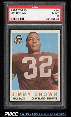 1959 Topps Football Jim Brown 10 PSA 9 MINT PWCC