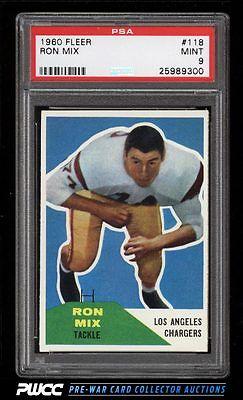 1960 Fleer Football Ron Mix ROOKIE RC 118 PSA 9 MINT PWCC