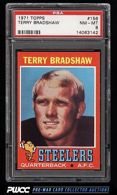 1971 Topps Football Terry Bradshaw ROOKIE RC 156 PSA 8 NMMT PWCC