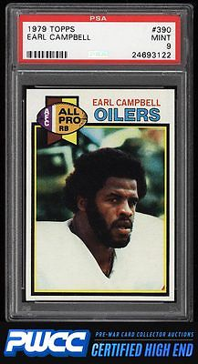 1979 Topps Football Earl Campbell ROOKIE RC 390 PSA 9 MINT PWCCHE
