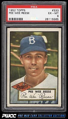 1952 Topps Pee Wee Reese 333 PSA 6 EXMT PWCC