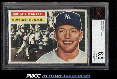 1956 Topps Mickey Mantle 135 BVG 65 EXMT PWCC