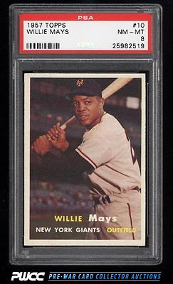 1957 Topps Willie Mays 10 PSA 8 NMMT PWCC