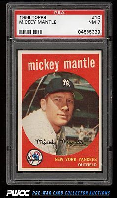 1959 Topps Mickey Mantle 10 PSA 7 NRMT PWCC