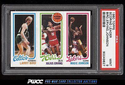 1980 Topps Basketball Larry Bird  Magic Johnson ROOKIE RC PSA 9 MINT PWCC