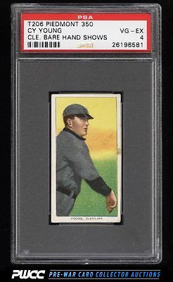 190911 T206 Cy Young CLEVELAND BARE HAND SHOWS PSA 4 VGEX PWCC